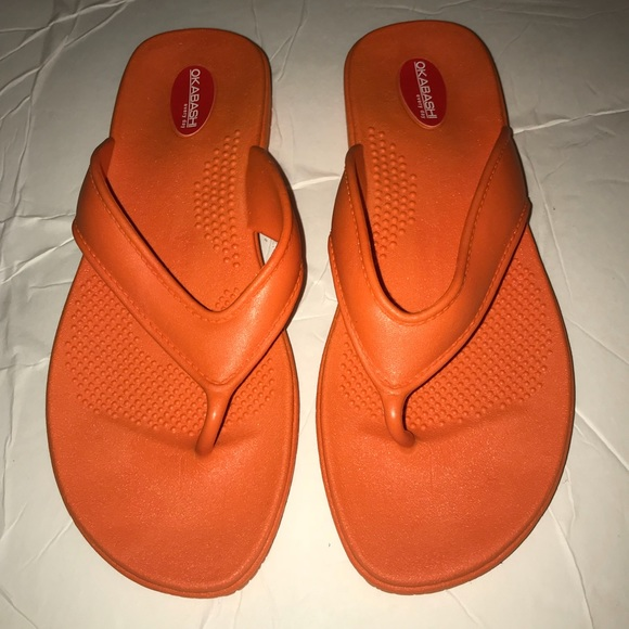 8ac80e93bb288 NWT Okabashi Maui Flip Flop Sandals 7.5 8 8.5 9